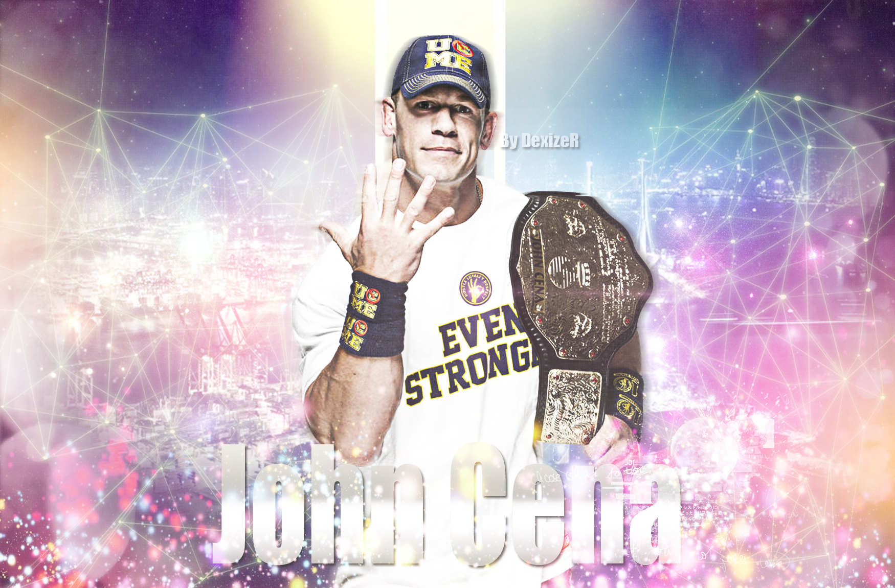 New WWE John Cena Champ 2014 HD Wallpaper by SmileDexizeR on 1750x1150