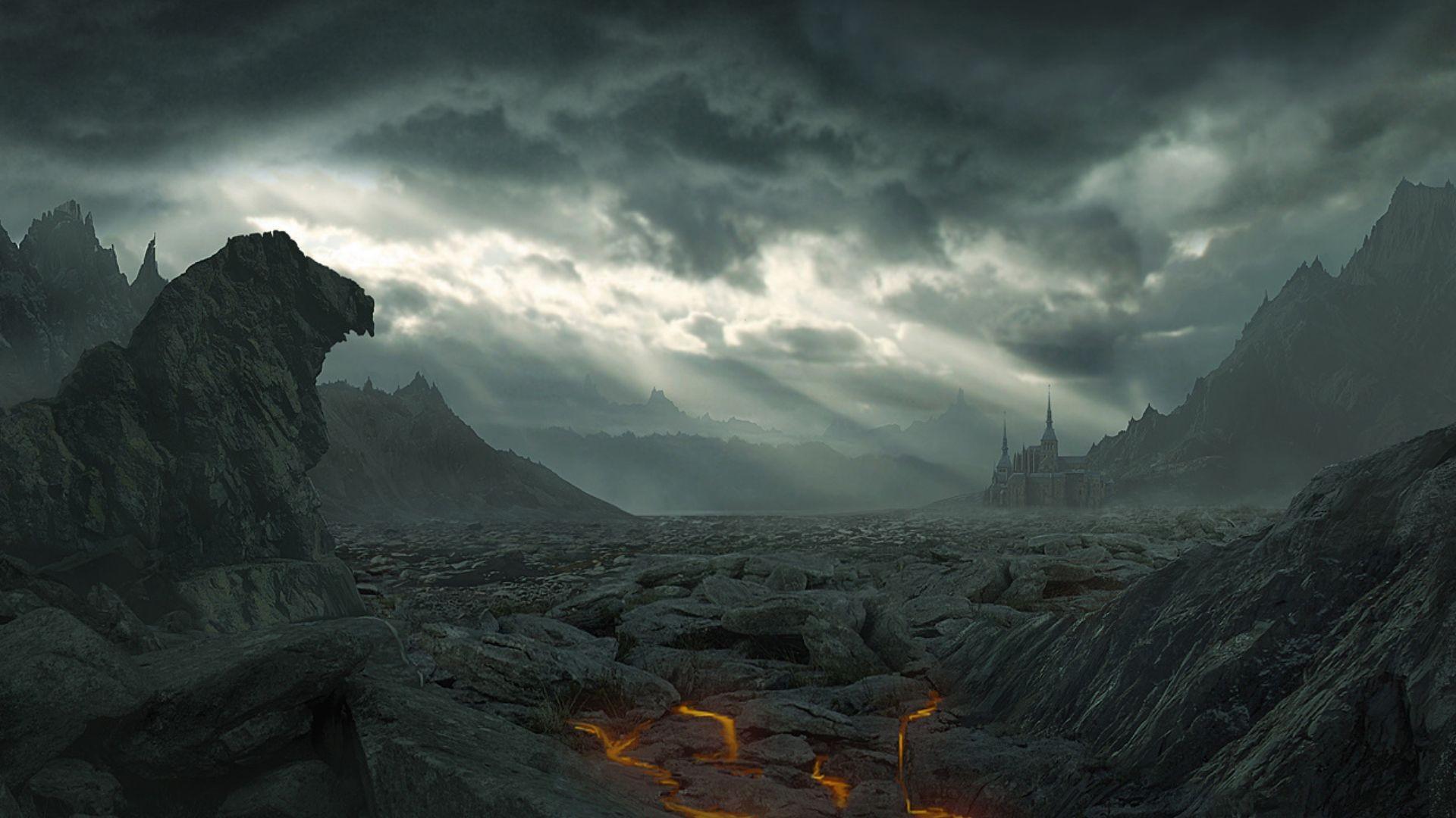 50 fantasy landscapes wallpapers on wallpapersafari - Fantasy desktop pictures ...