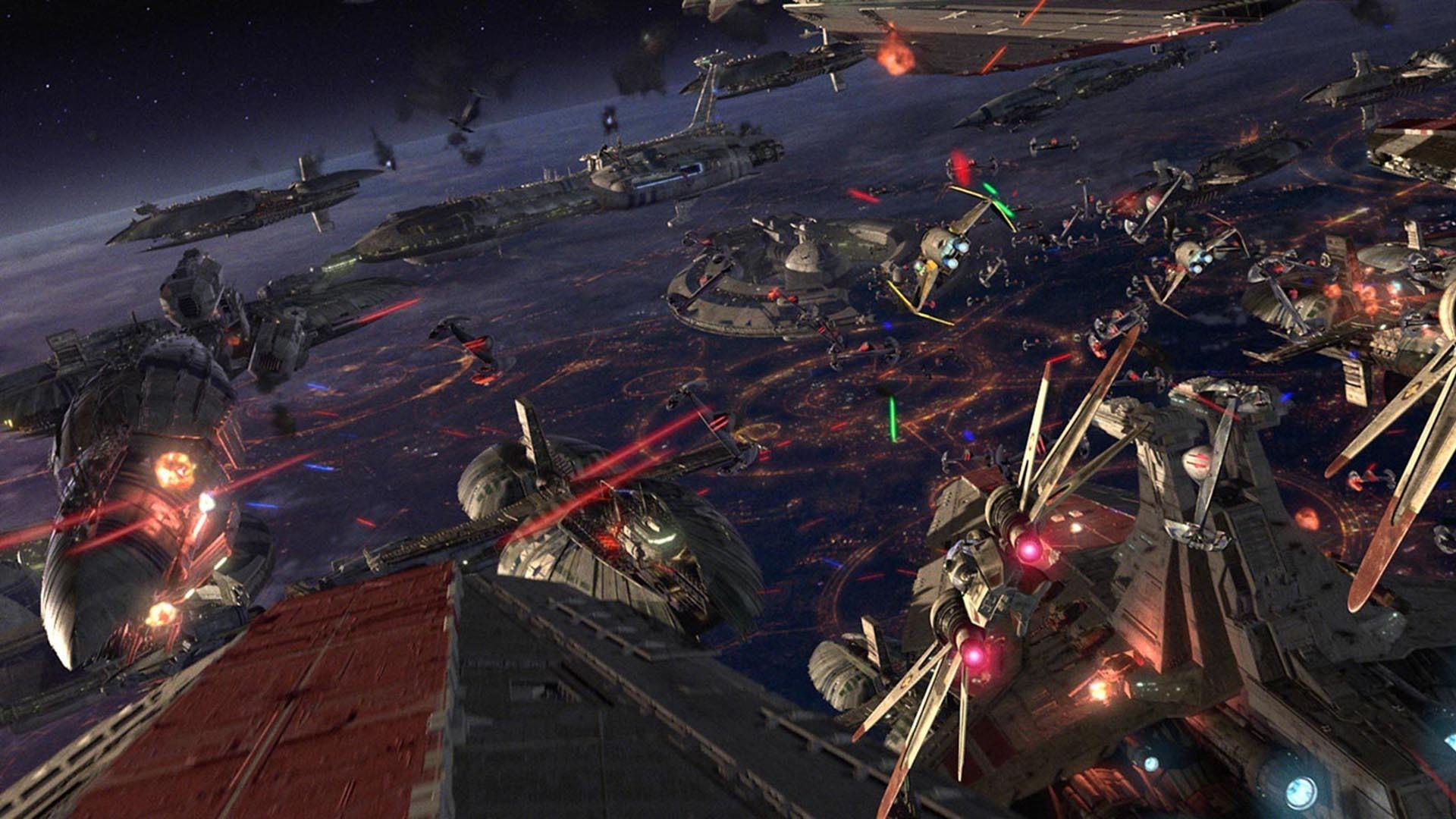 Star Wars Episode III Revenge of the Sith sci fi battle spaceship 1920x1080