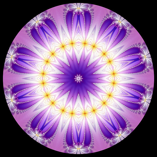 Free Download Purple Fractal Kaleidoscope Pc Android Iphone