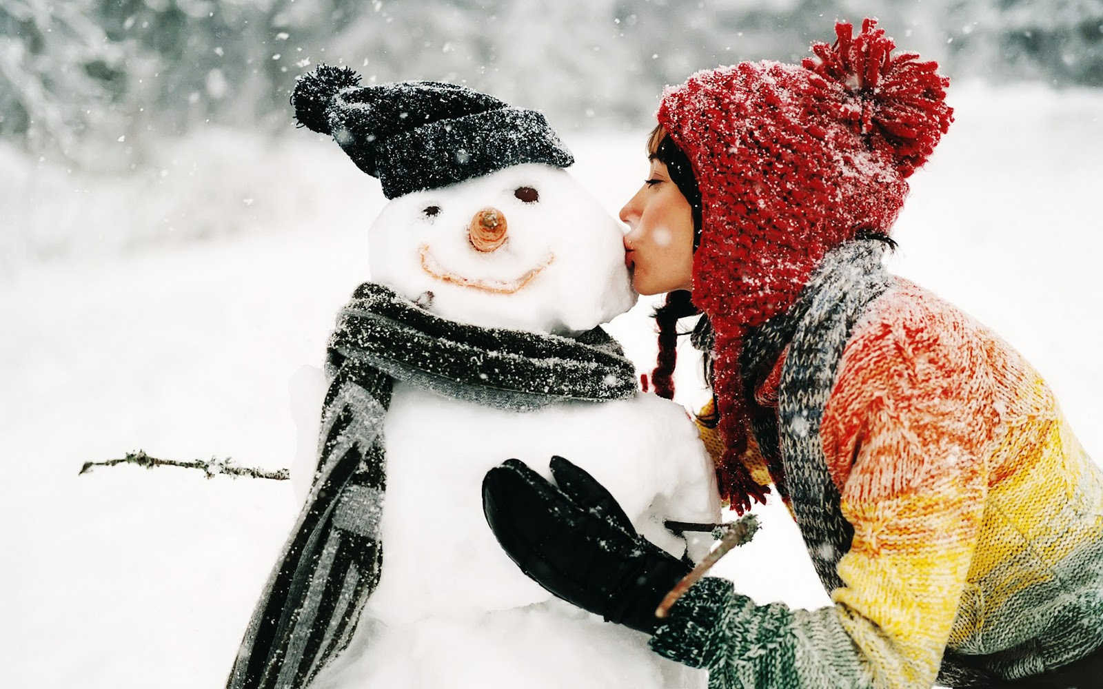 cute snowman winter hd wallpapers 1600x1000