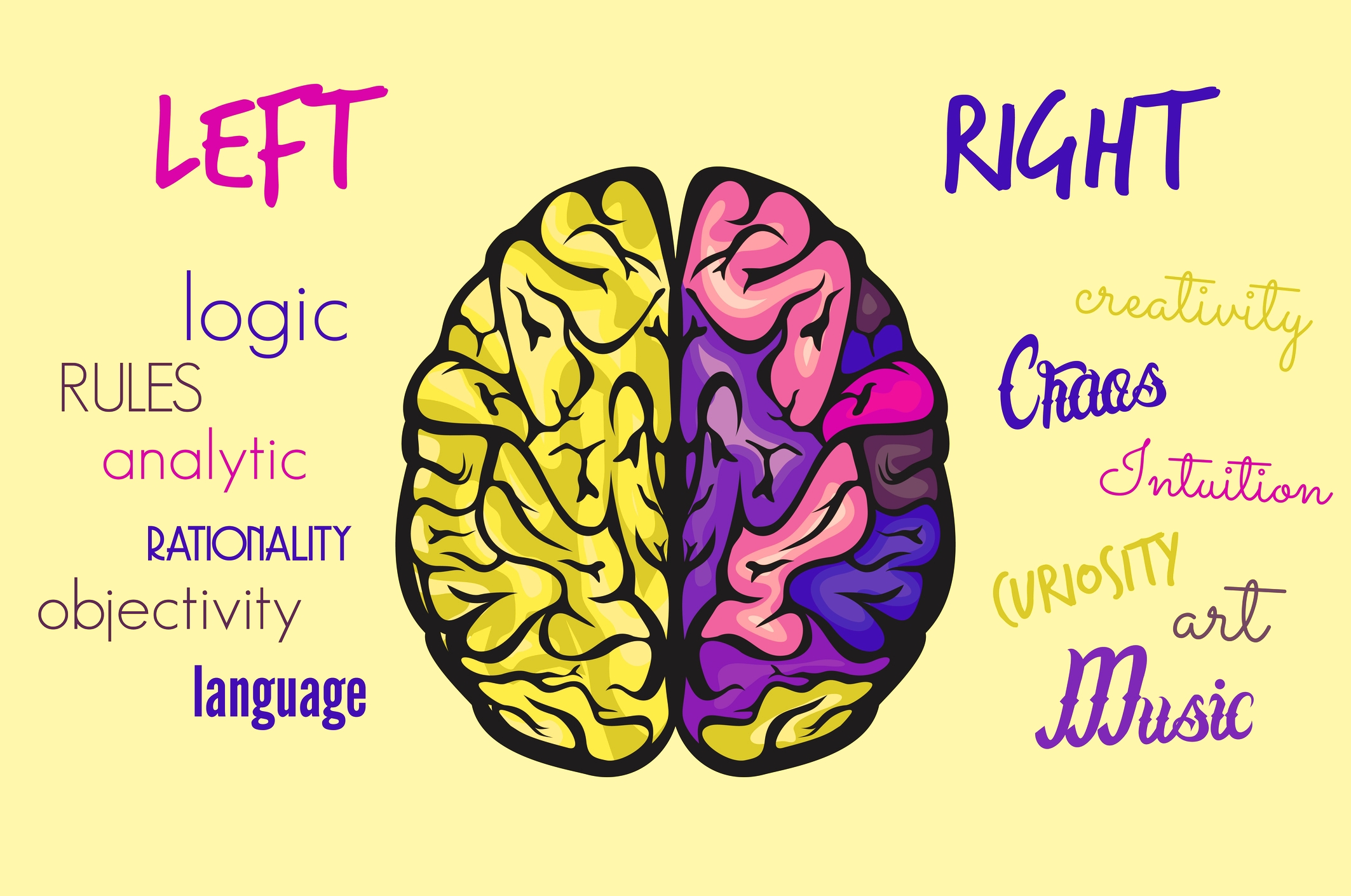left brain and right brain Have you ever heard people say that they tend to be more of a right-brain or left- brain thinker from books to television programs, you've.