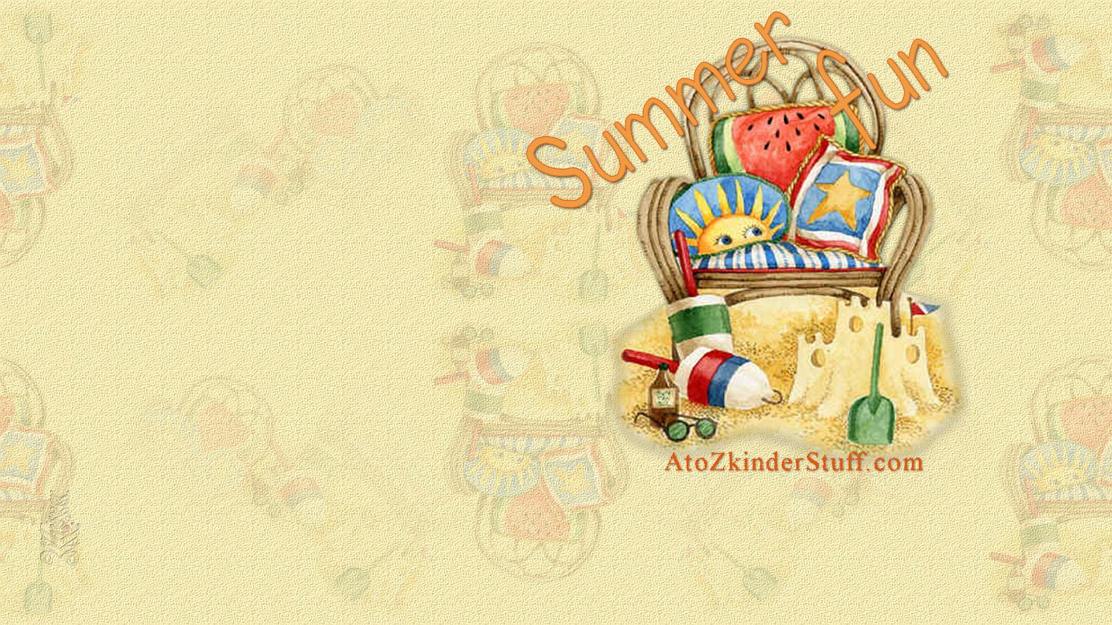 Summer Fun Desktop Wallpaper 1600x900