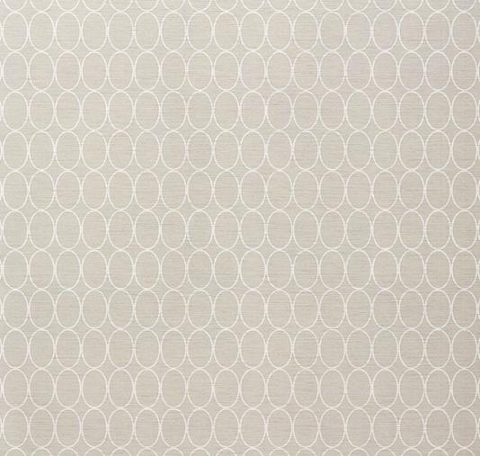 Sonoma Wallpaper Light Grey wallpaper with geometric oval design in 534x507