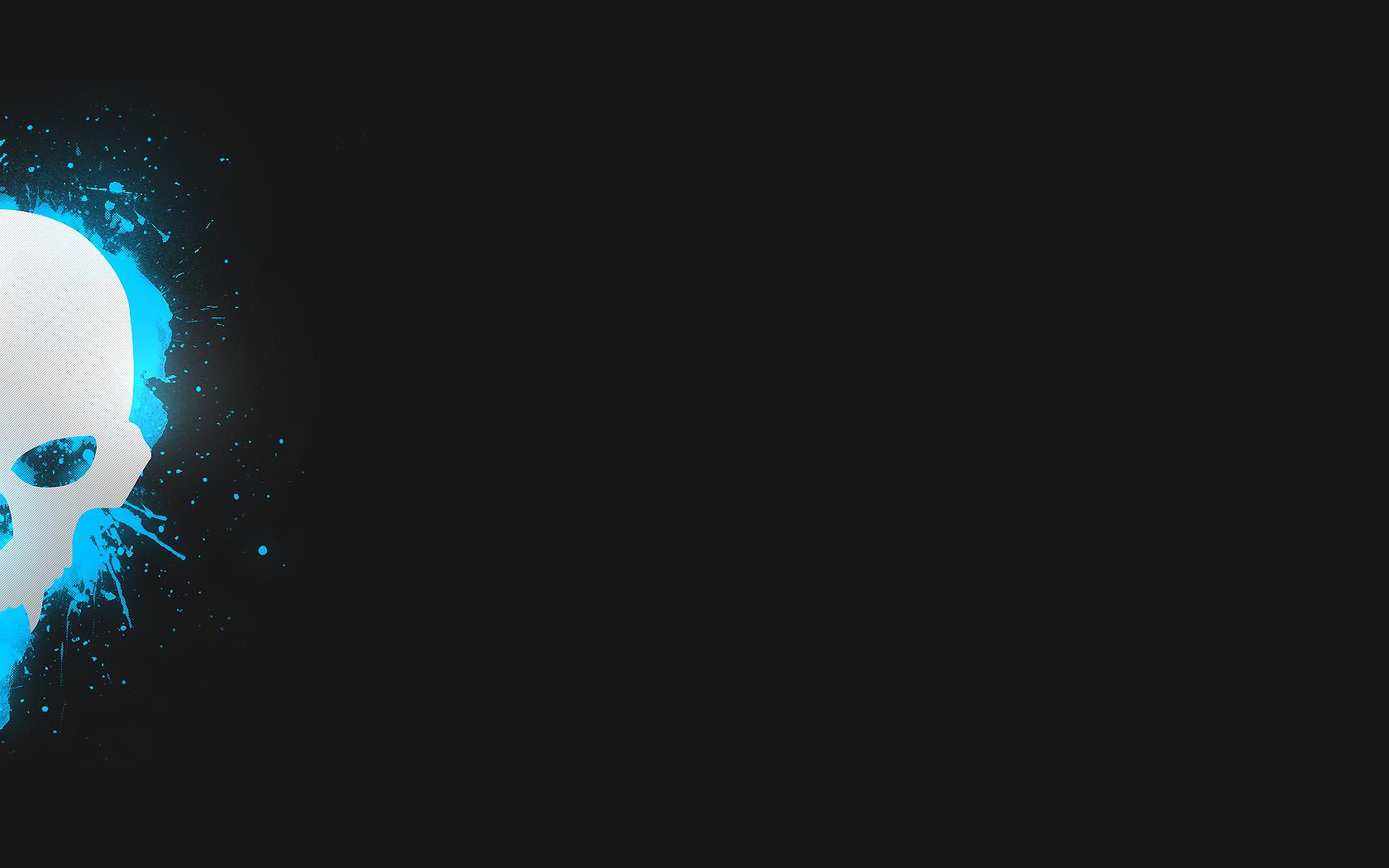 Blue Skull Best Twitter Backgrounds 1680x1050