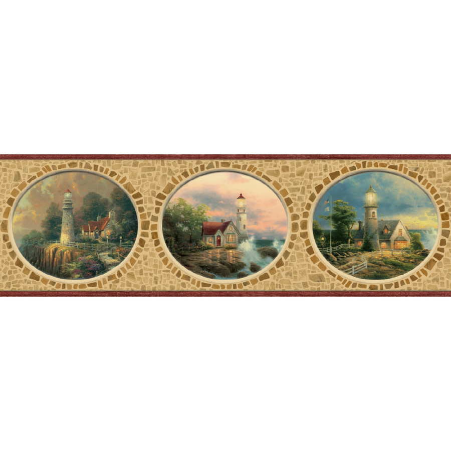 Scenic Lighthouse Prepasted Wallpaper Border at Lowescom 900x900