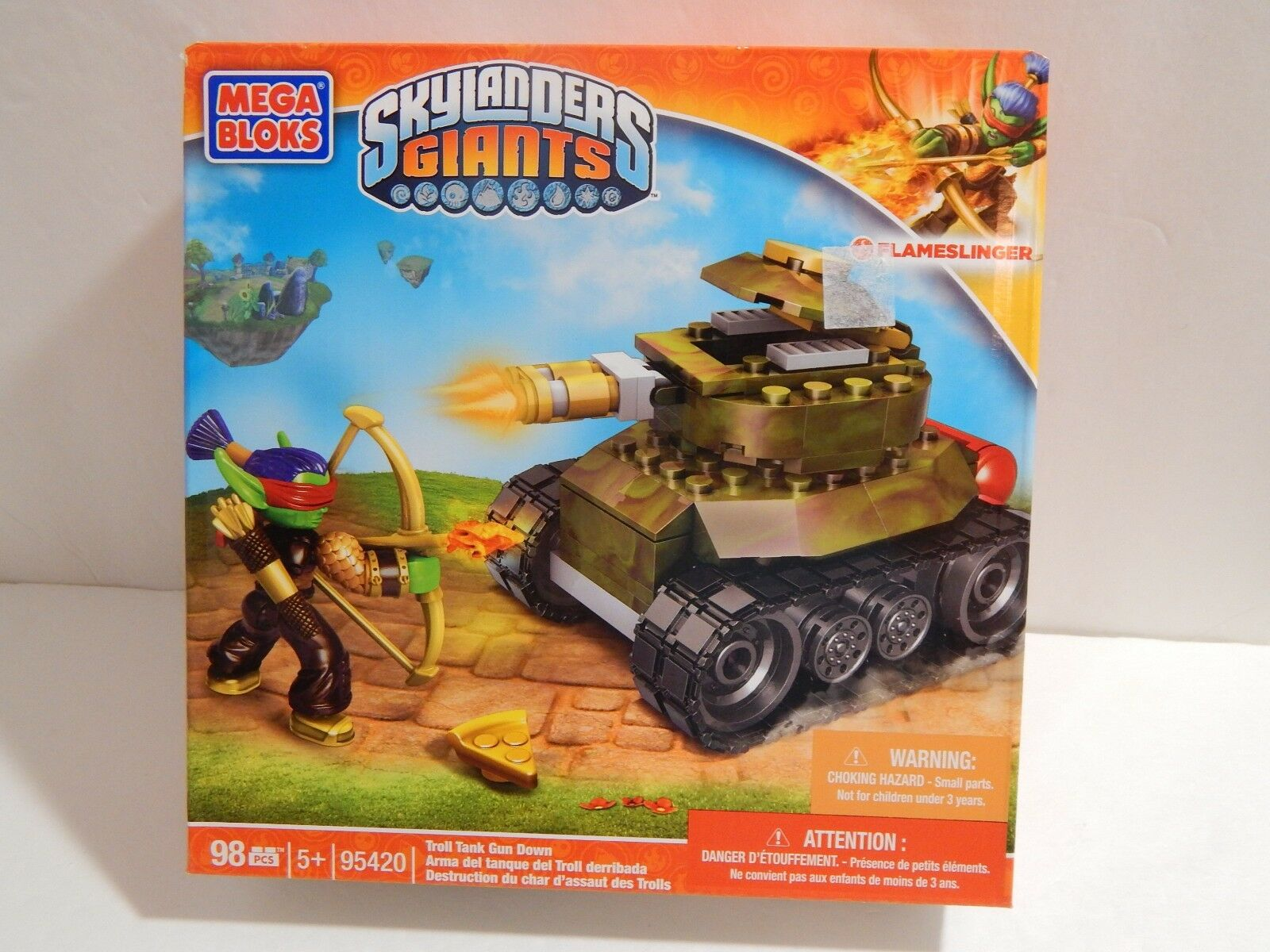 Mega Bloks Skylanders Giants Set 95420 Troll Tank Gun Down 1600x1200