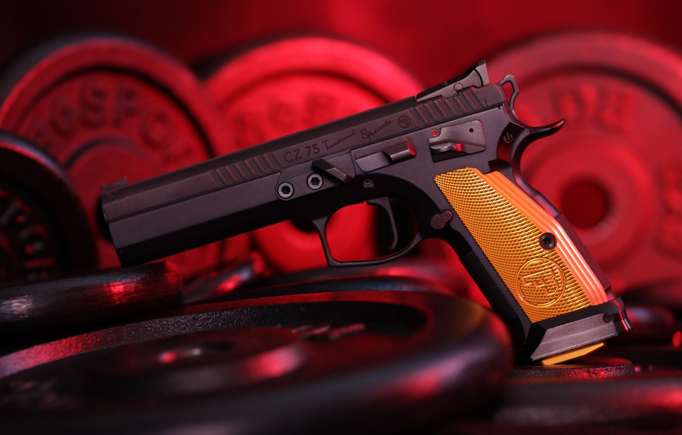 Wallpaper background self loading pistol CZ 75 images for 1332x850