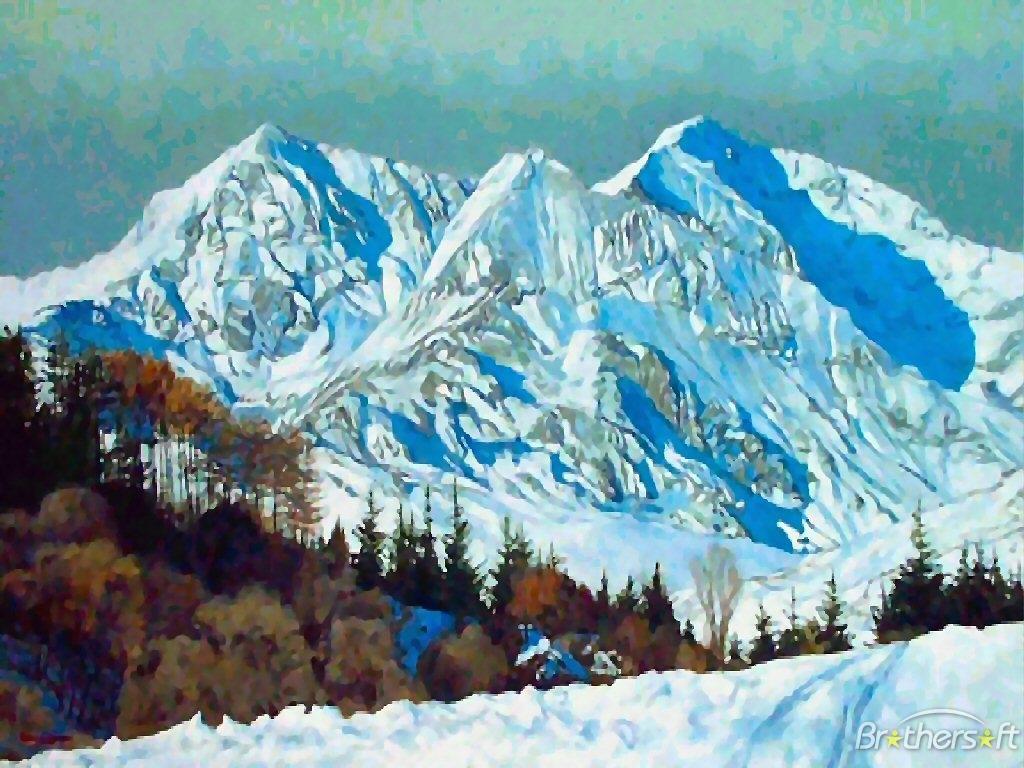 Download Mountain White Winter Mountain White Winter Download 1024x768