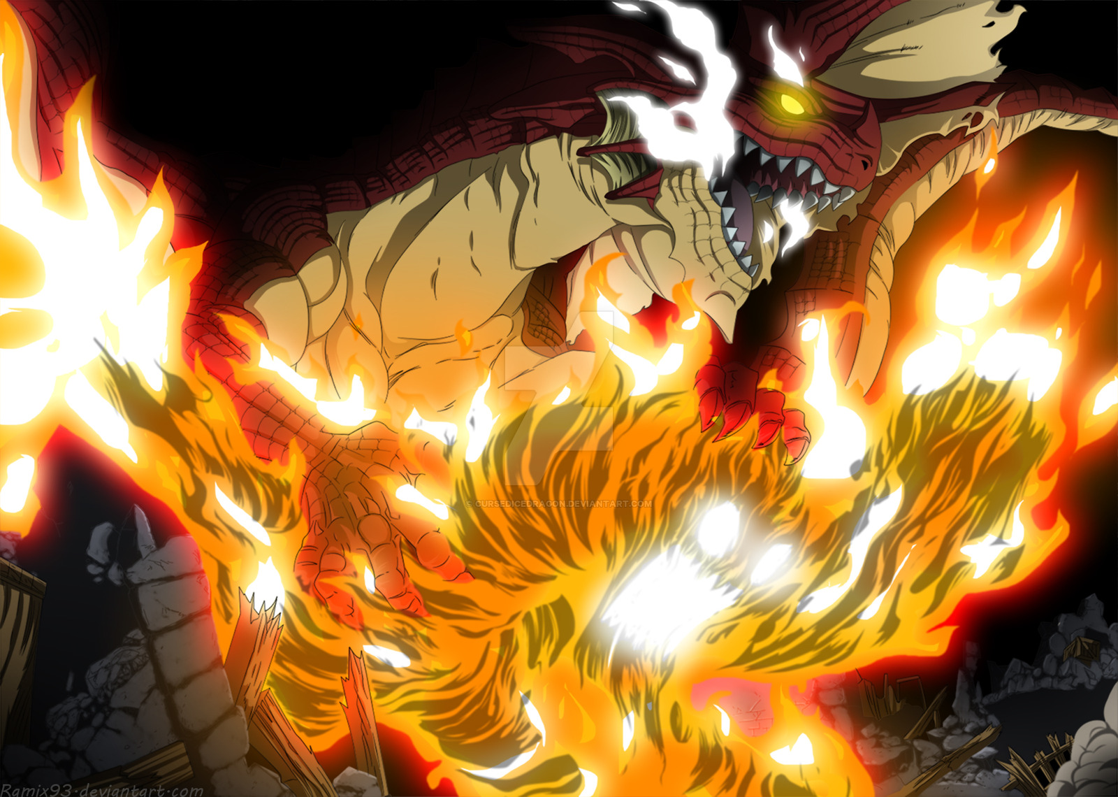 Igneel The Flame Dragon King by CursedIceDragon 1600x1140