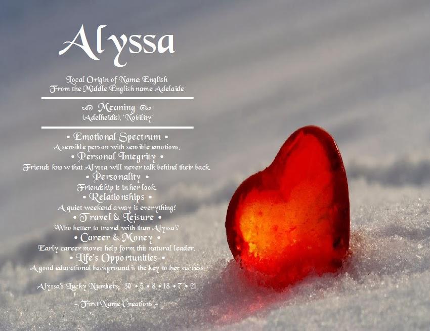 47+ The Name Alyssa Wallpaper on WallpaperSafari