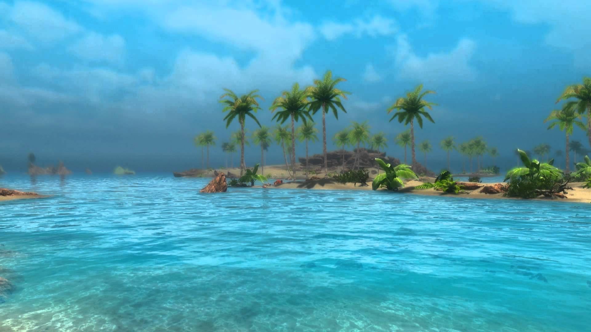 Animated Desktop Wallpaper   Tropical Skyrim 2   Sunny Beach 1920x1080