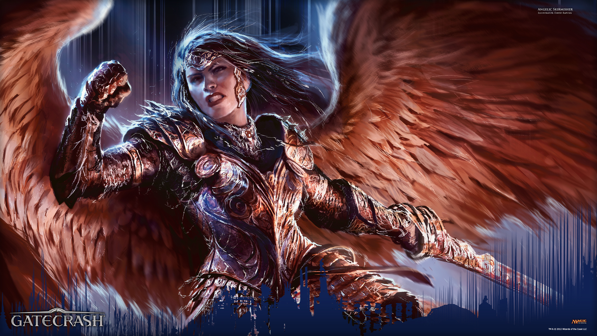 Free Download Wallpaper Of The Week Angelic Skirmisher Daily Mtg