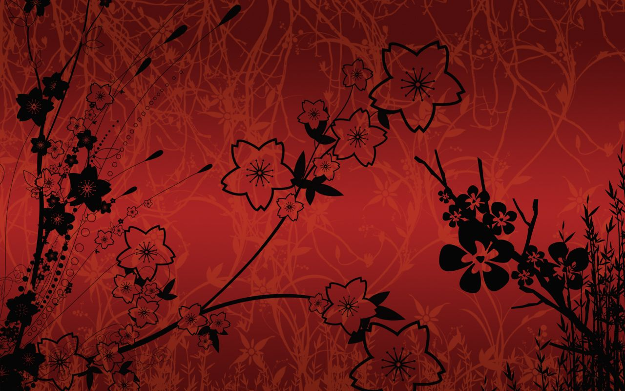 Asian Background Designs silhouette japanese wall 1280x800