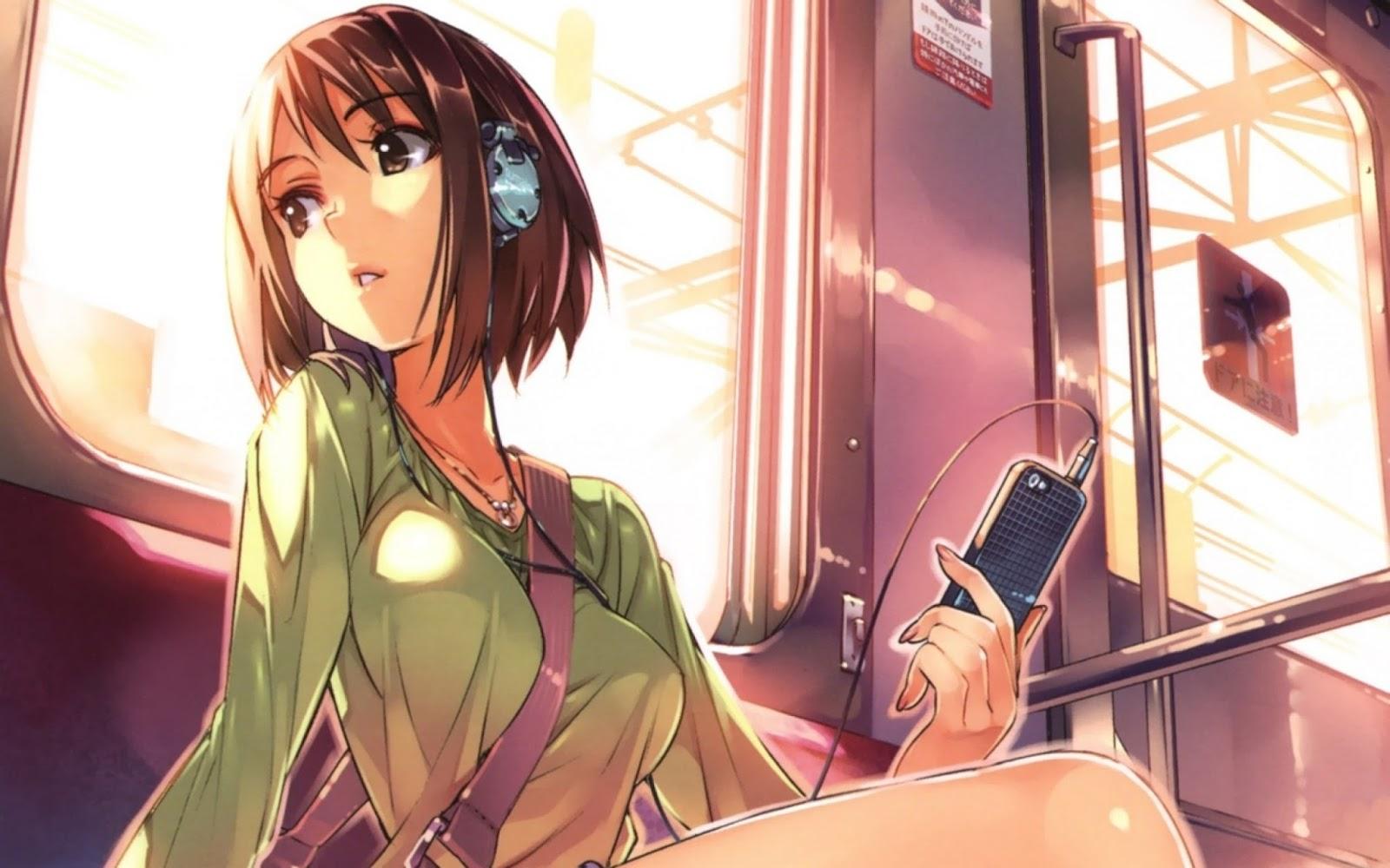 Tomboy Anime Girl With Headphones Vi mi tc ngn kiu tomboy 1600x1000