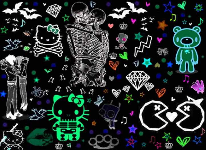 emo background skeletonpng 723x525