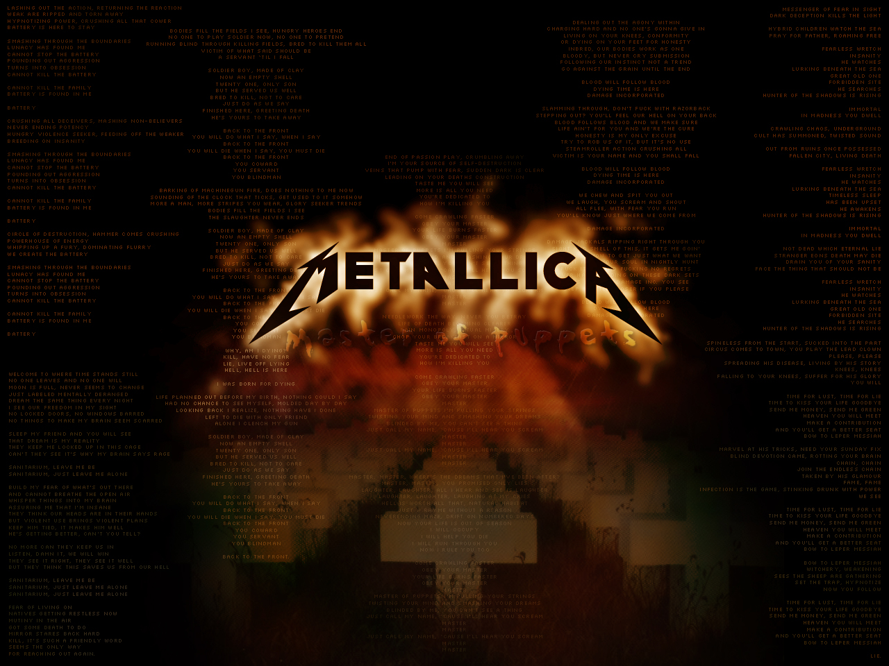 Metallica Wallpaper 1280x960 Metallica 1280x960
