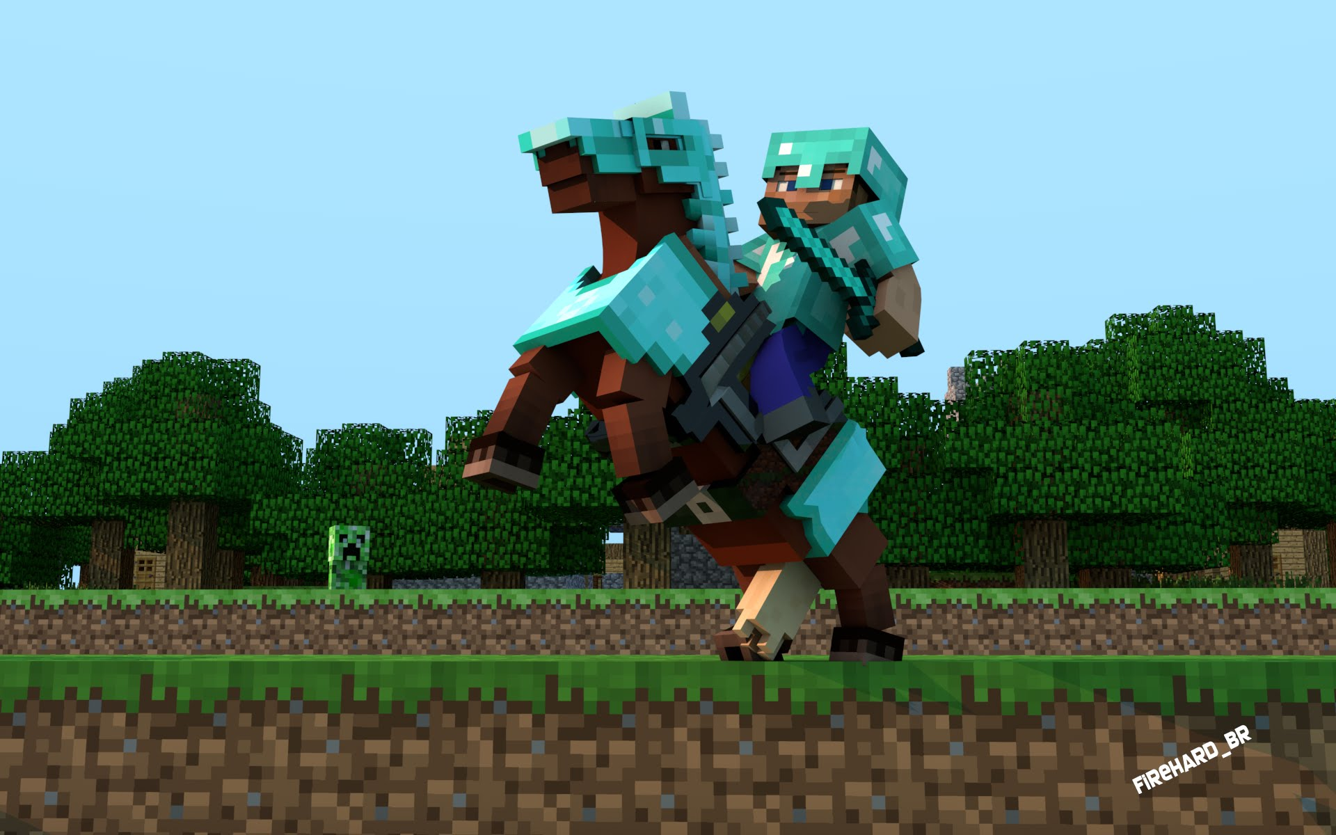 how to ride a minecraft horse