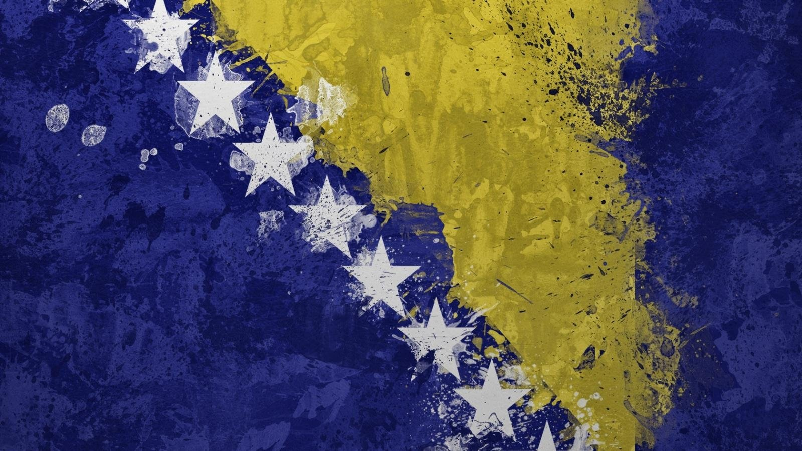 2 Flag Of Bosnia HD Wallpapers Background Images 1600x900