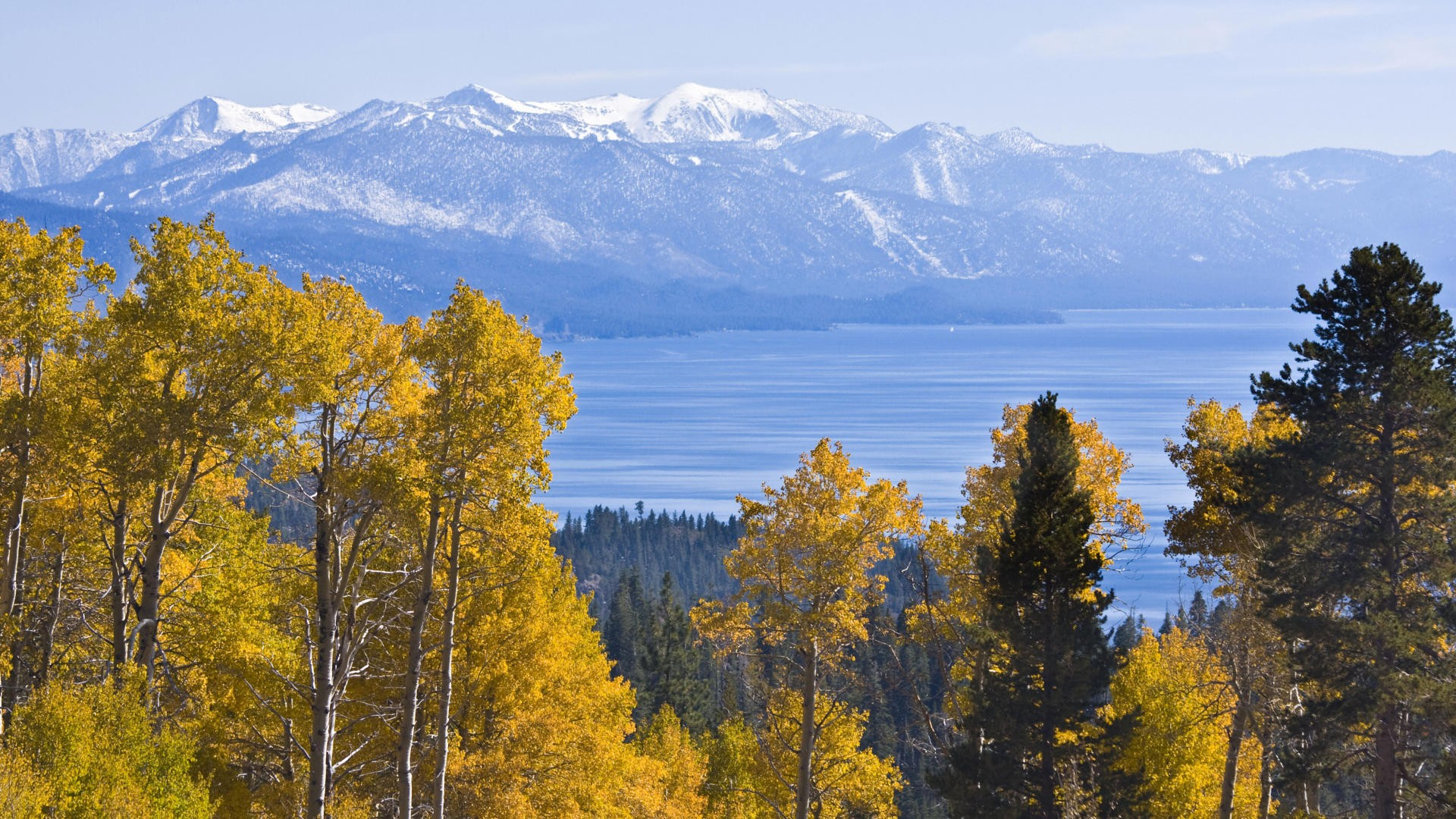 autumn California Lake Tahoe wallpaper background 1920x1080