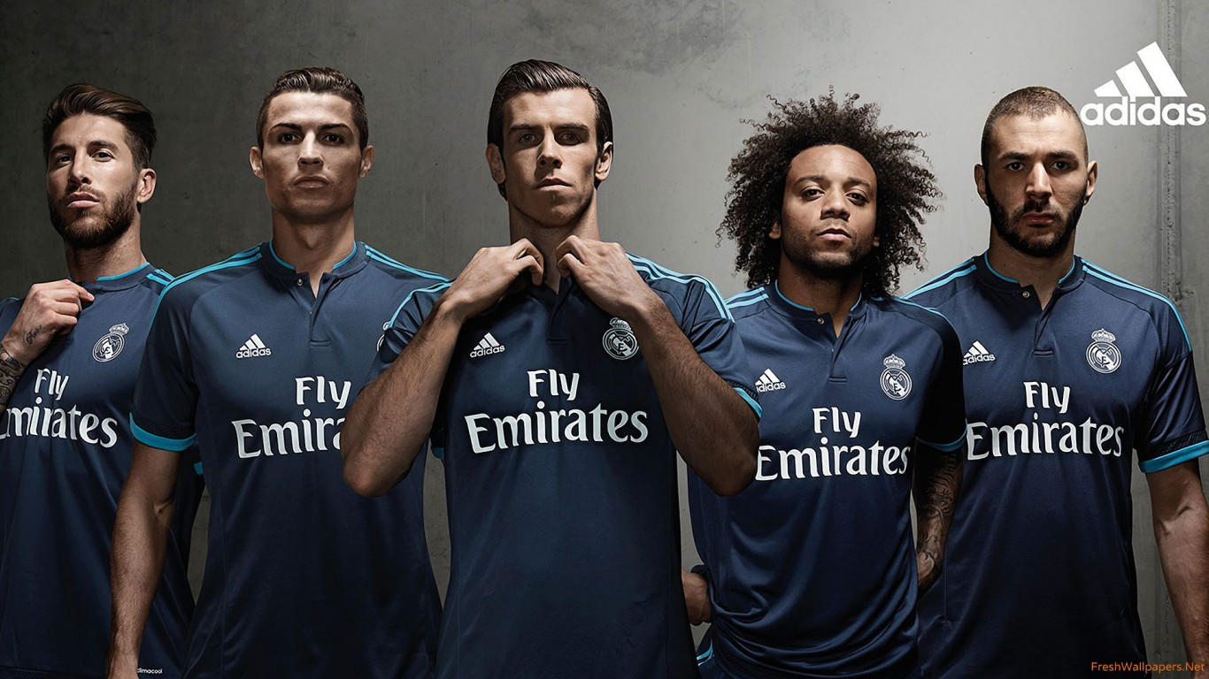 Real Madrid 2015 16 Adidas Third Kit wallpapers Freshwallpapers 1366x768