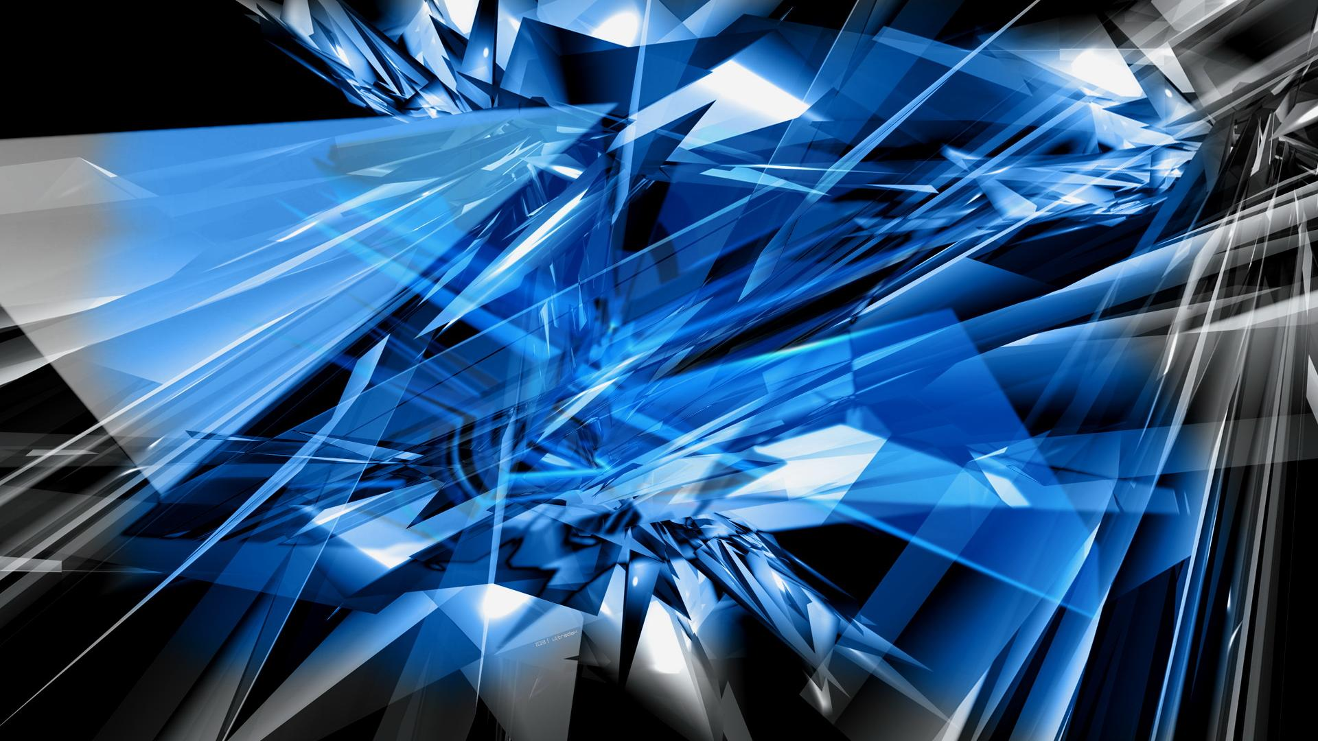 Blue Abstract Wallpaper for PC - WallpaperSafari