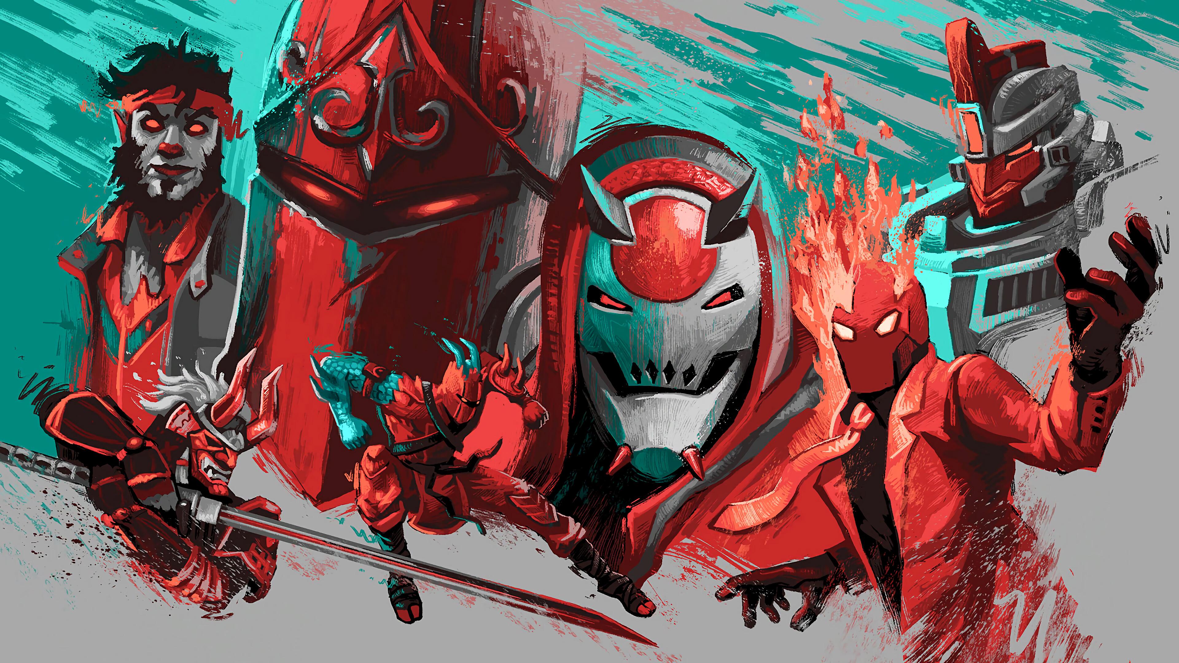 Fortnite Red Knight Vendetta Hybrid Shogun Dire InfernoSentinel 4K 3840x2160