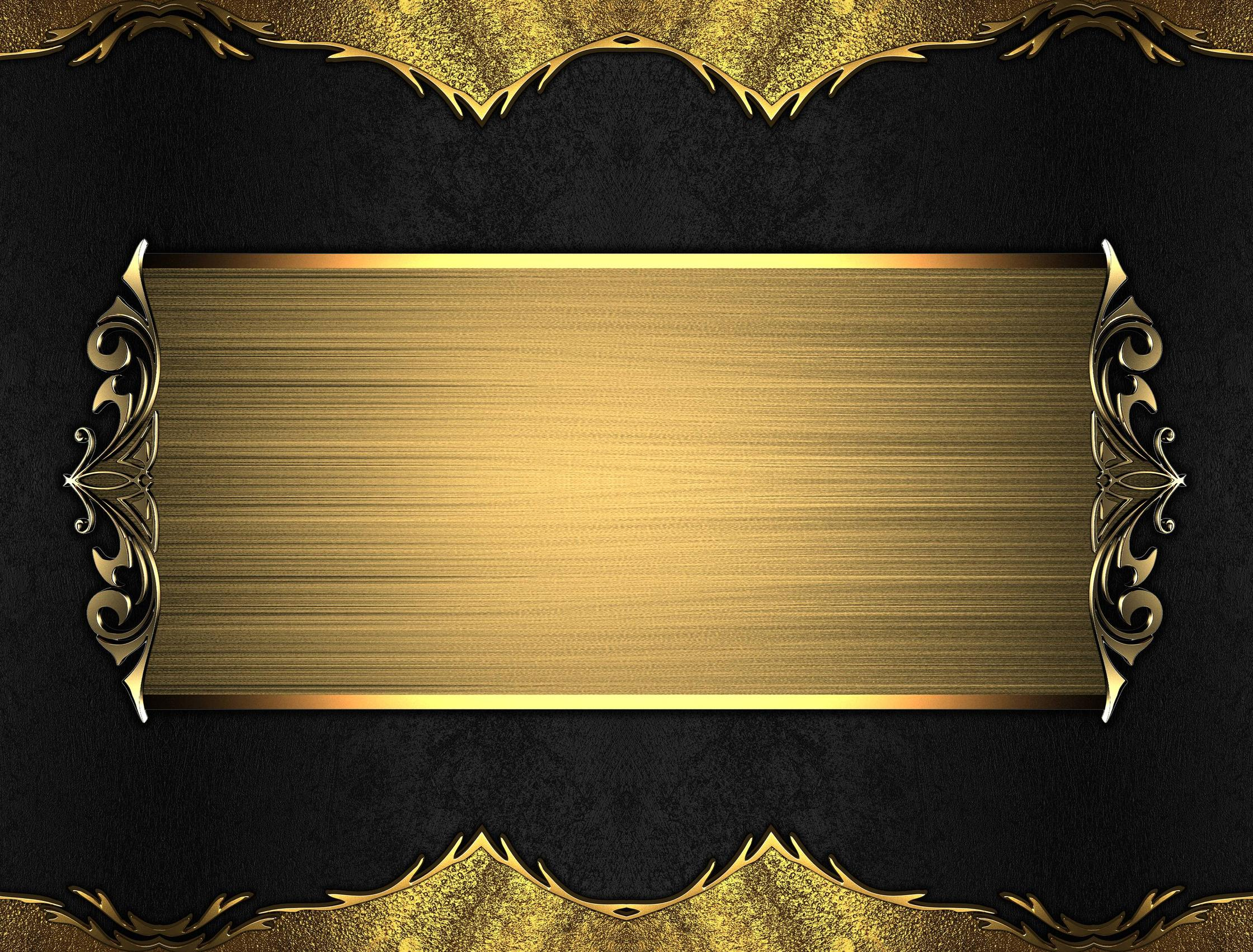Gold And Black Backgrounds - WallpaperSafari
