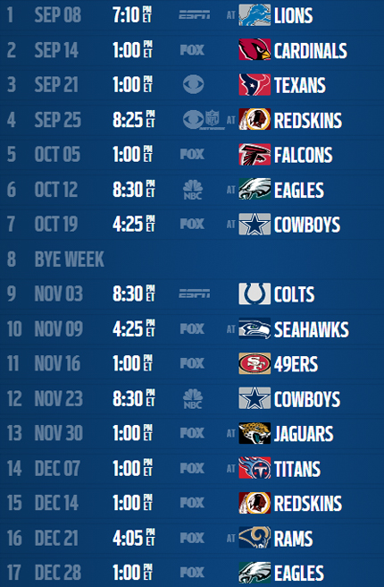 2014 2015 Nfl Schedule Printable Search Pictures Photos 430x656
