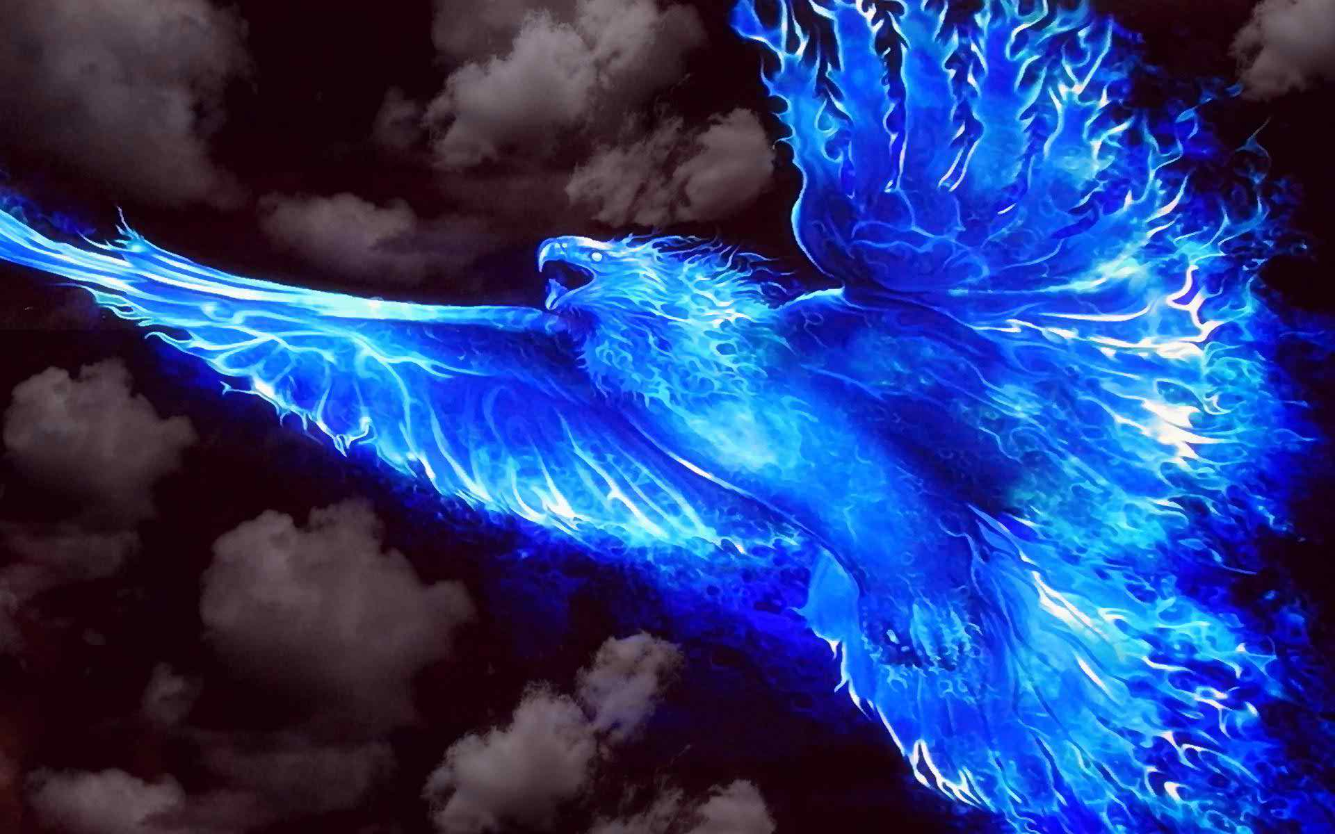 Cool backgrounds of blue fire