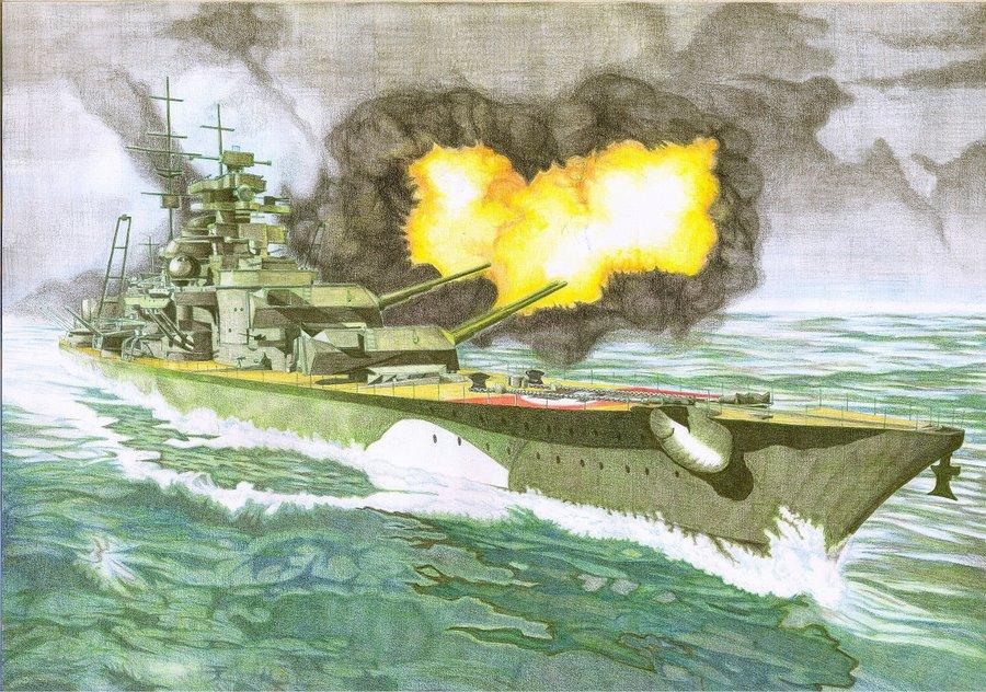Battleship Bismarck by lygart 900x632
