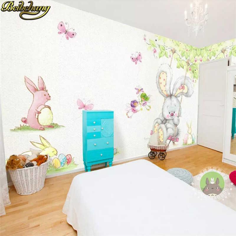 beibehang Custom Cartoon cute bunny wallpapers for living room 800x800