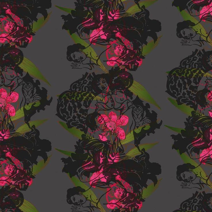 Timorous Beasties Oriental Orchid Hand Print Wallpaper Occa Homeco 736x736