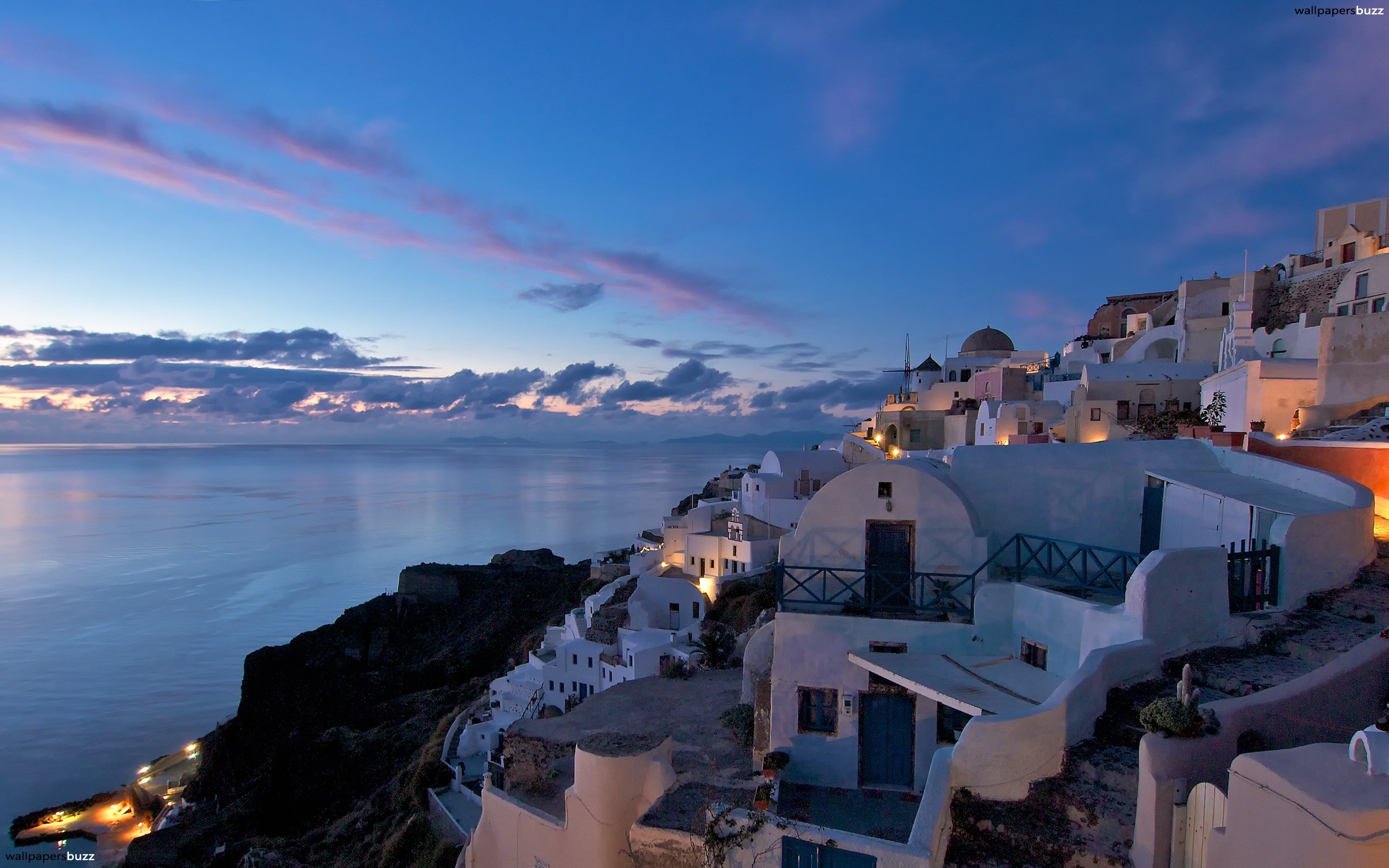 Panorama of Santorini HD Wallpaper 2560x1600
