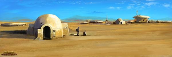 landscapesStar Wars star wars landscapes sand movies futuristic 600x200