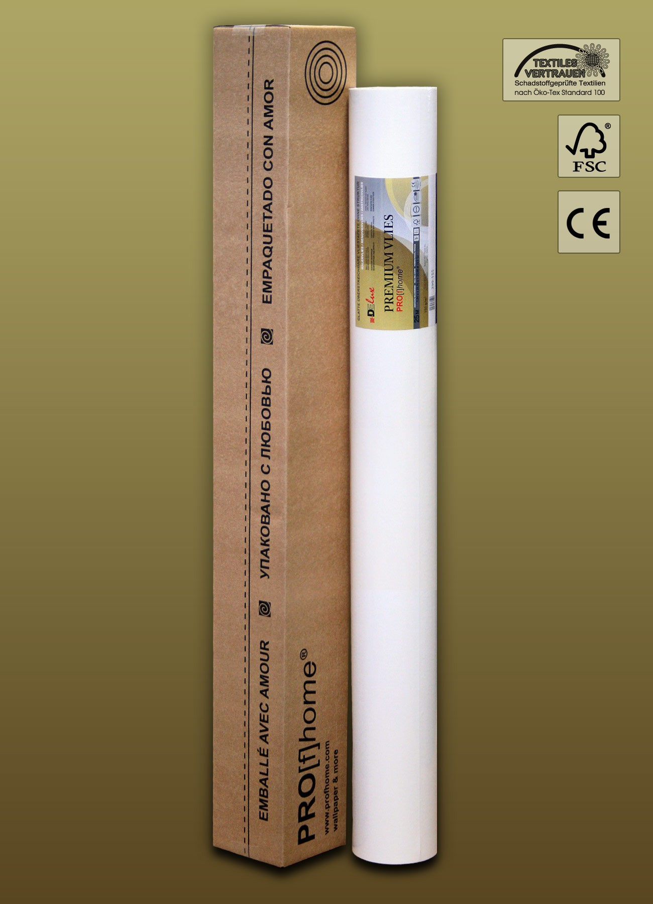Lining Paper Non Woven Wallpapers PremiumVlies Smooth Paintable .
