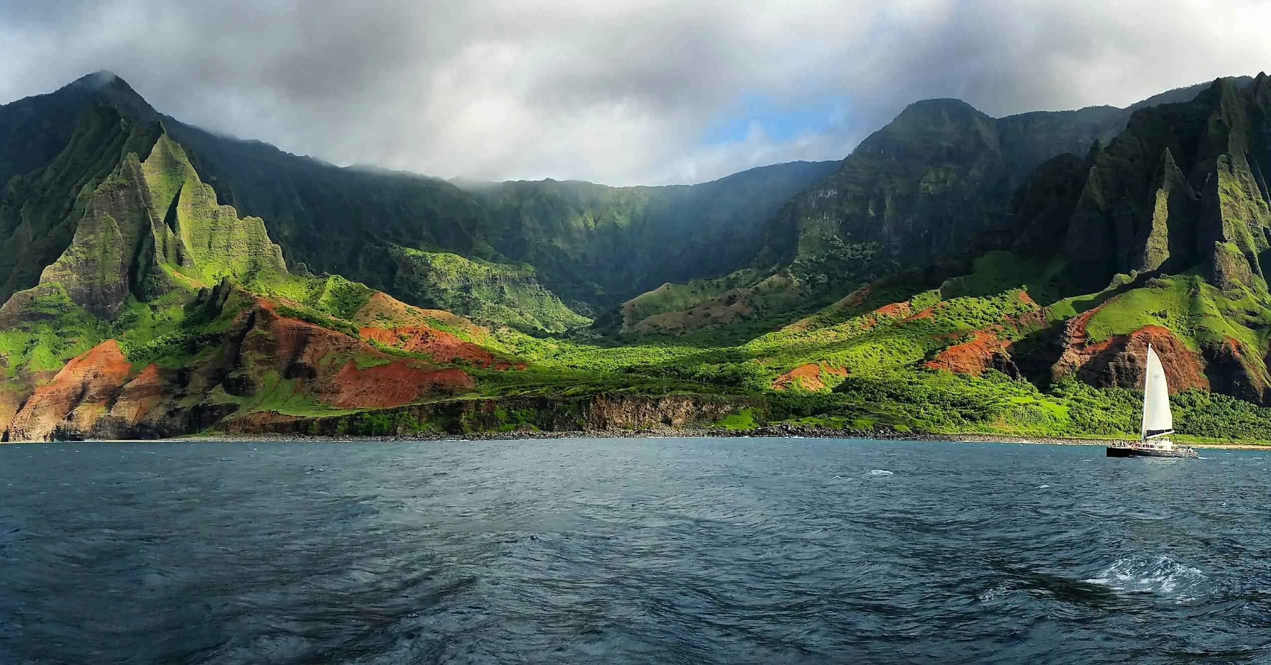 Napali Coast Kauai 14645 HD wallpaper 2536x1327