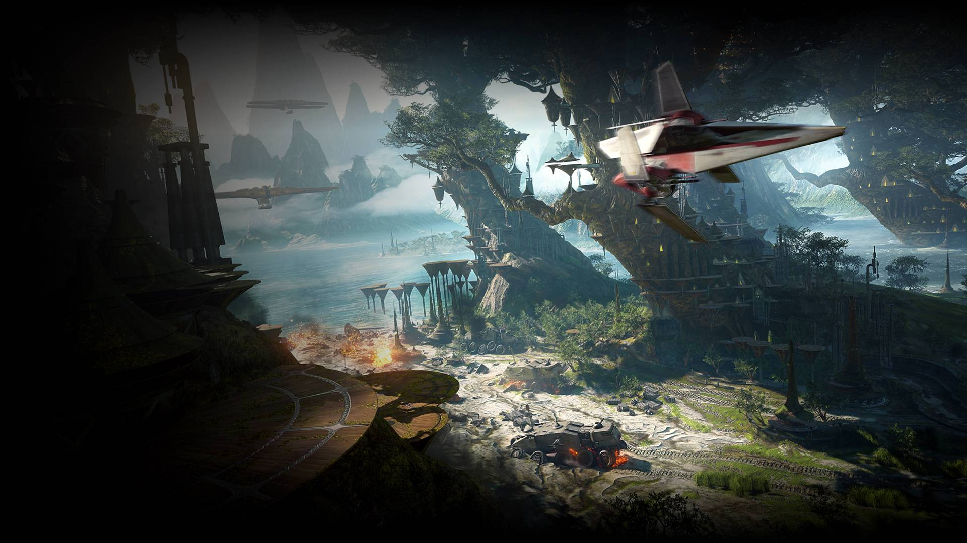 Star Wars Battlefront II Kashyyyk Map
