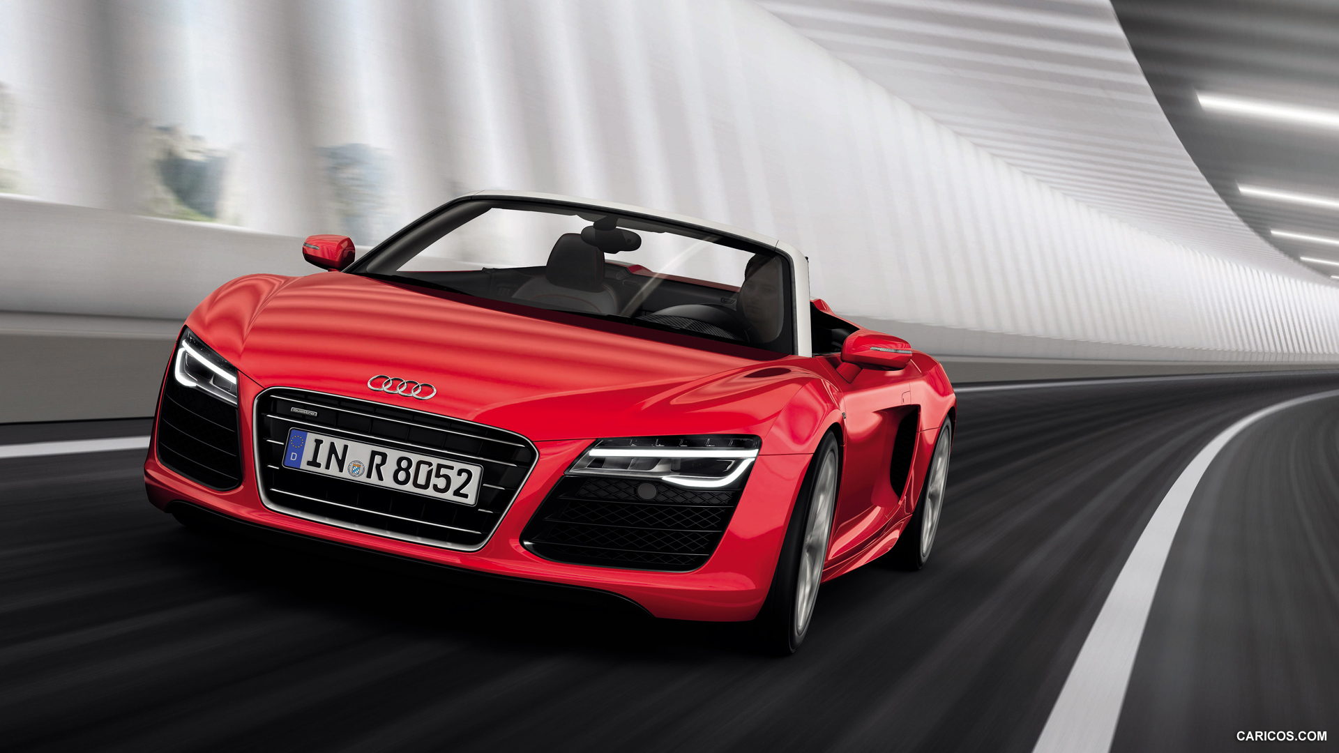 2013 Audi R8 Spyder V10   Front HD Wallpaper 13 1920x1080