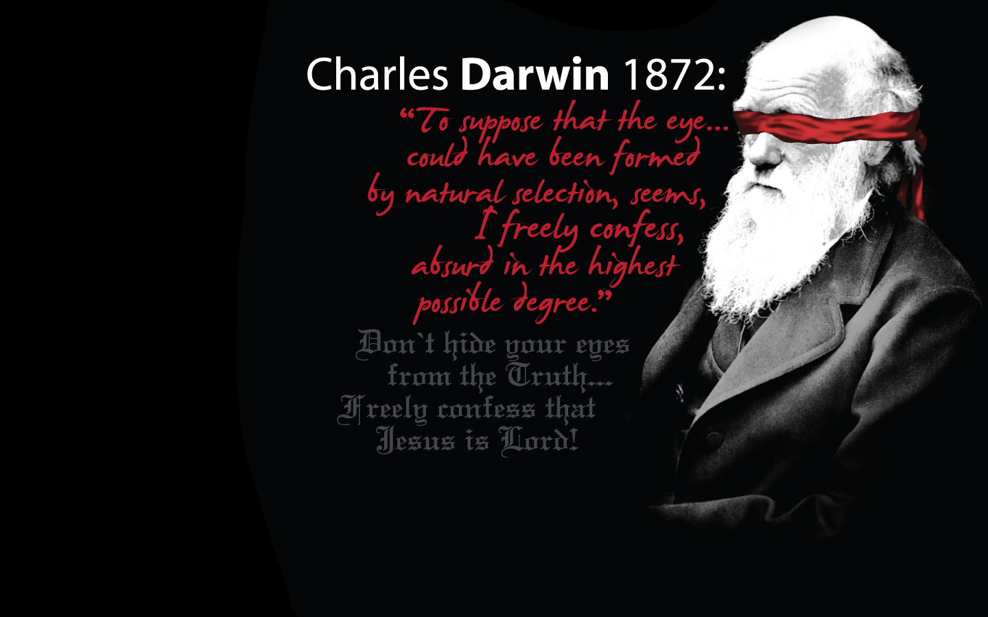 Darwin was Wrong Wallpaper   Christian Wallpapers and Backgrounds 1440x900