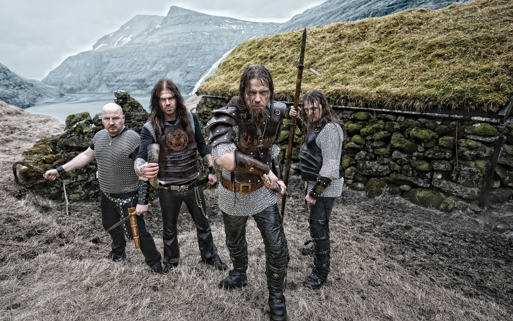 Download wallpaper 1680x1050 tyr warriors band mountains bald 1680x1050