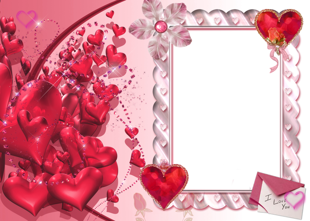download Wallpaper frame download Photo Frame Love Heart 1024x732