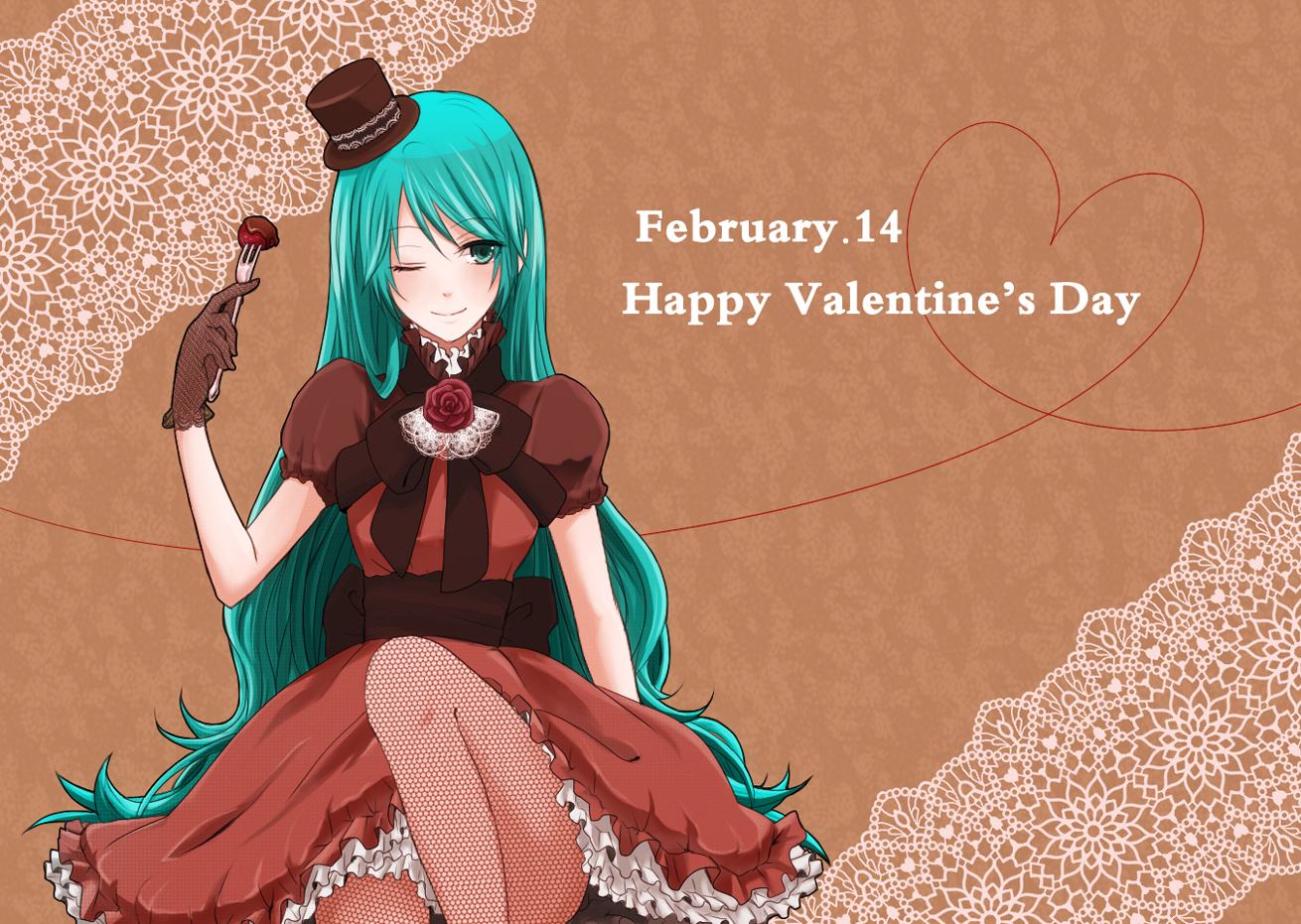 Anime valentine 39 s day wallpaper wallpapersafari - Happy valentines day anime ...