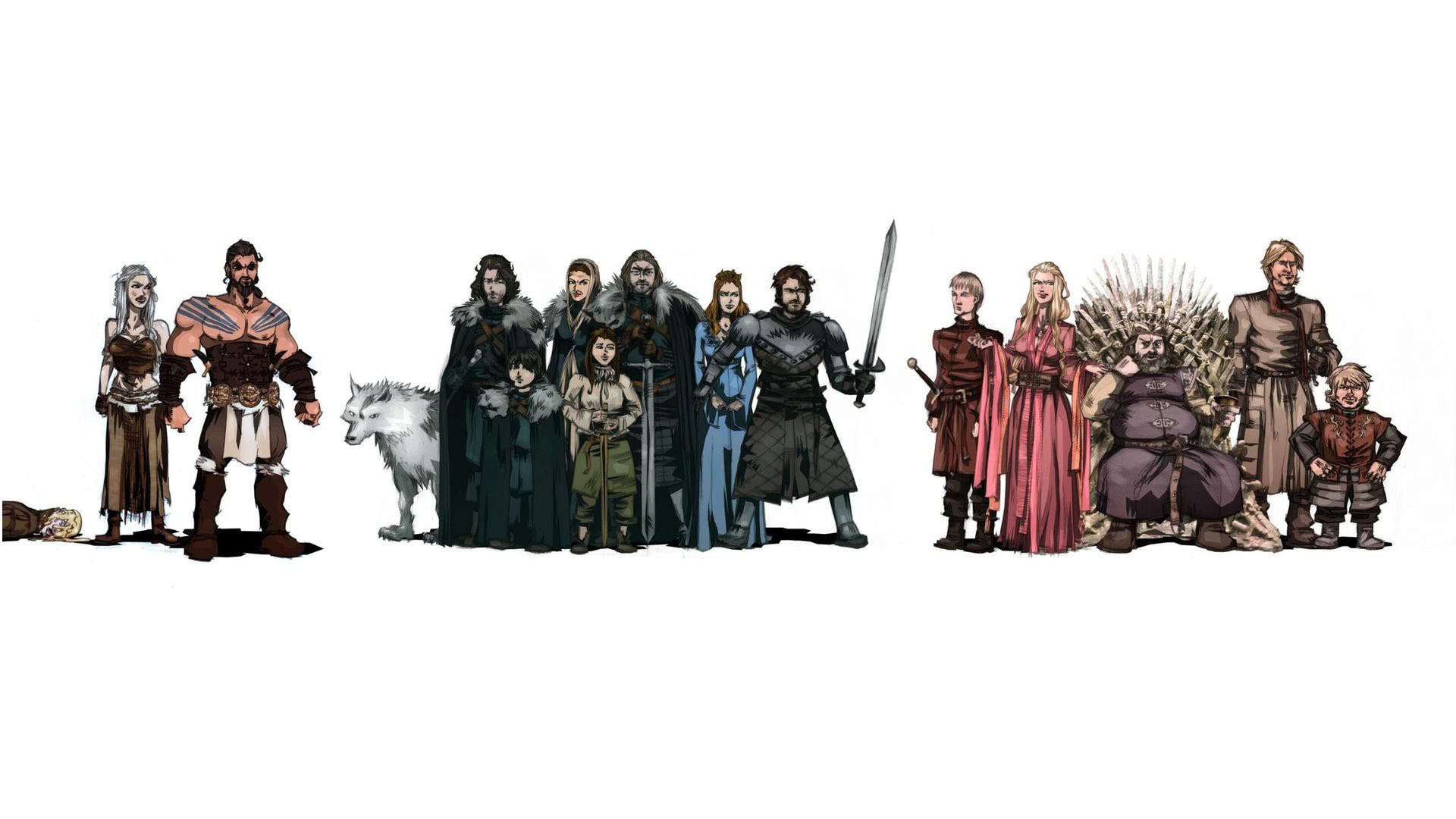 Game of Thrones Artwork Characters Wallpaper   DreamLoveWallpapers 1920x1080
