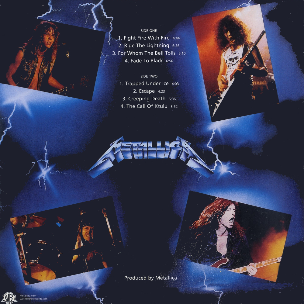 metallica wallpaper ride the lightning 1000x1000