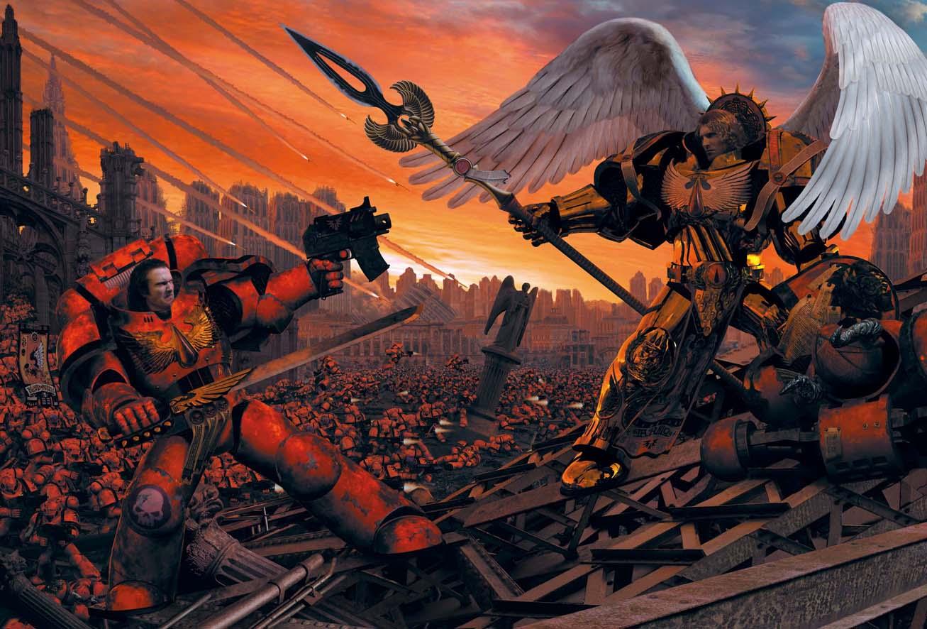Warhammer 40k Blood Angels Blood angels land raider rush 1307x886
