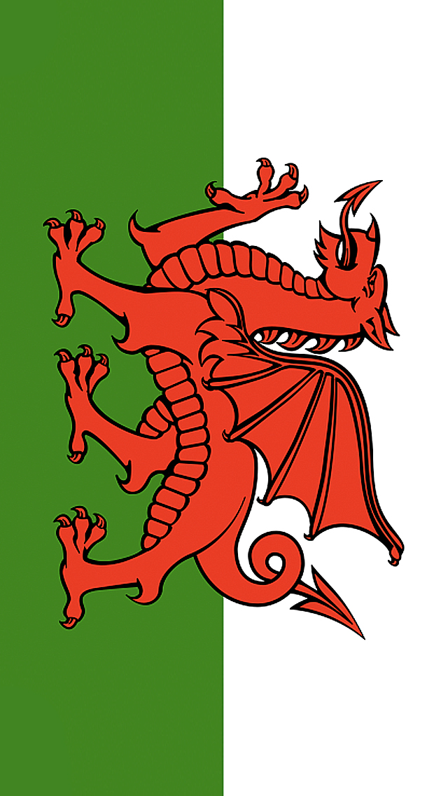 Wales Flag iPhone Wallpaper HD 640x1136