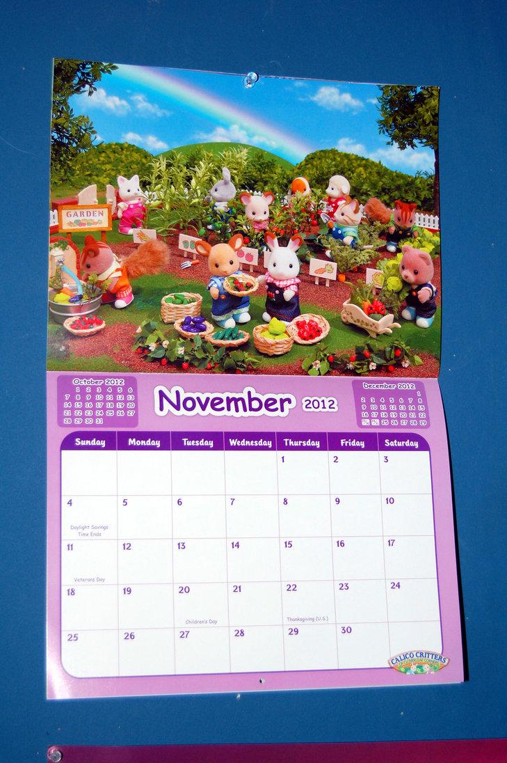 Calico Critters November Calendar by Rogue Ranger 729x1096
