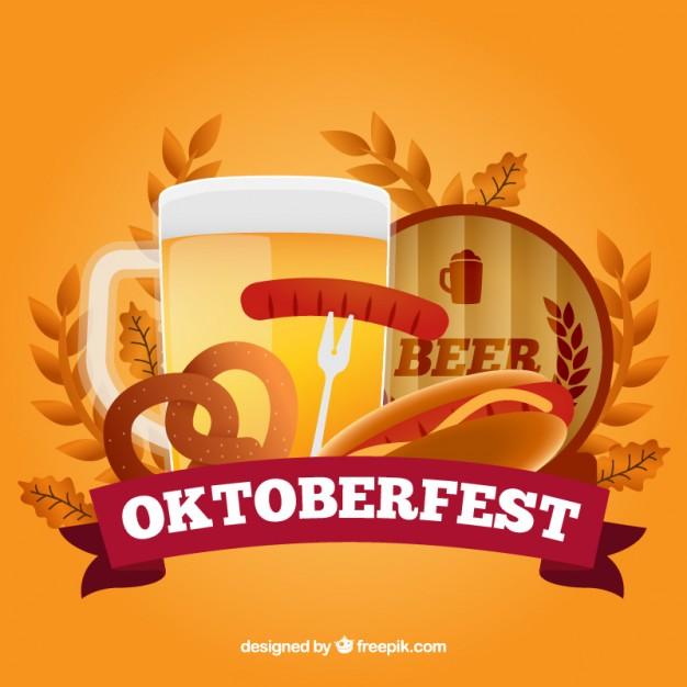 Coloured oktoberfest background Vector Download 626x626