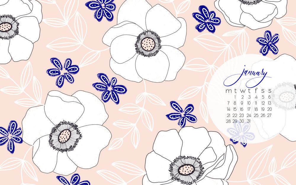 Hello January FREE Desktop Mobile Background Calendars 1000x625